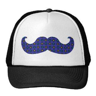 Blue Mustache Trucker Hat