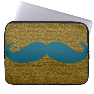 Blue Mustache Laptop Sleeve