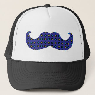 Blue Mustache Trucker Hat