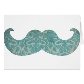 Blue Mustache - Vintage Damask Card