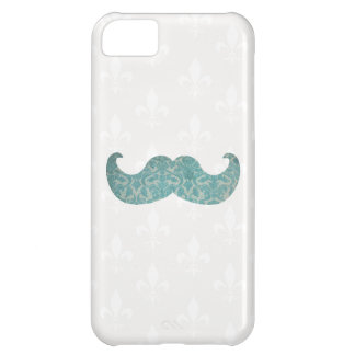 Blue Mustache - Vintage Damask iPhone 5C Cover