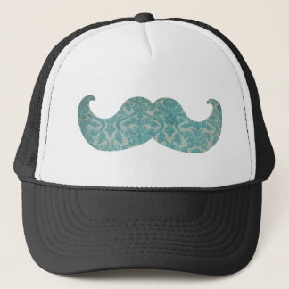 Blue Mustache - Vintage Damask Trucker Hat