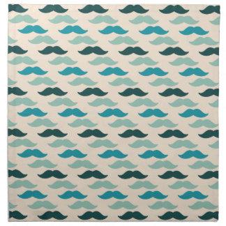 Blue Mustaches Cloth Napkin