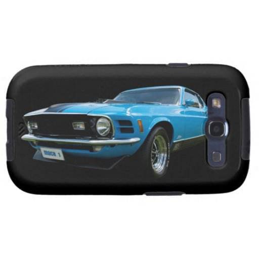 Blue Mustang Mach 1 Samsung Galaxy S3 Covers