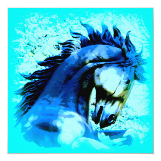 blue mustang stallion card