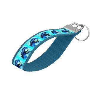 blue mustang stallions wrist keychain