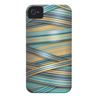 Blue Mustard abstract lines iPhone 4 Cover