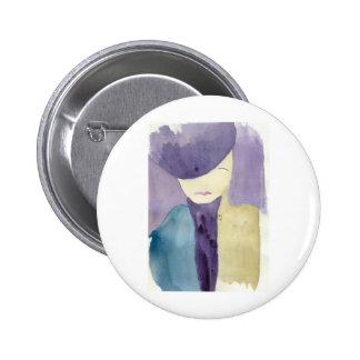 Blue Mystery Pinback Button