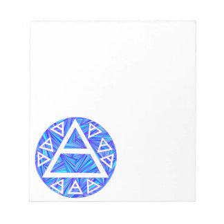 Blue Mystic Plato's Air Symbol New Age Triad Notes Notepad