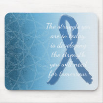 Blue Mystical Mandala Inspirational Mouse Pad