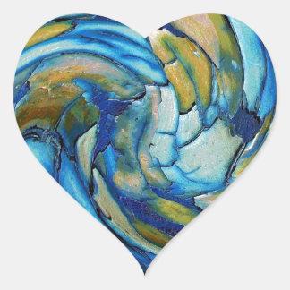 Blue N Gold Dolphin vs Eagle Heart Sticker