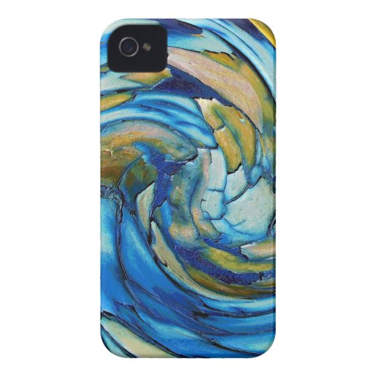 Blue N Gold Dolphin vs Eagle iPhone 4 Cover