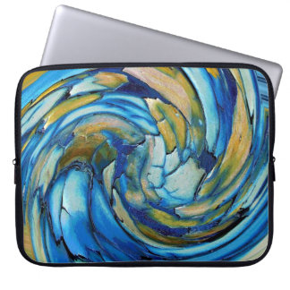 Blue N Gold Dolphin vs Eagle Laptop Sleeve