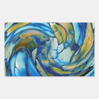 Blue N Gold Dolphin vs Eagle Rectangular Sticker