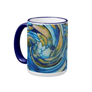 Blue N Gold Dolphin vs Eagle Ringer Mug
