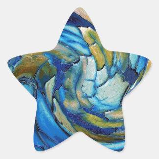 Blue N Gold Dolphin vs Eagle Star Sticker