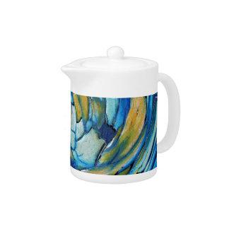 Blue N Gold Dolphin vs Eagle Teapot