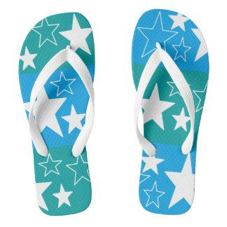 blue 'n green ... flip flops for mom DAL