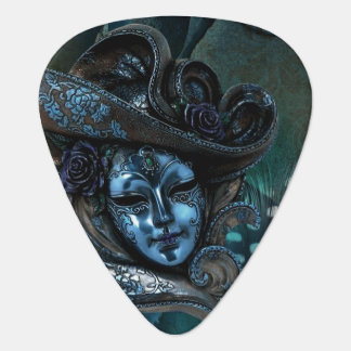 Blue N Olive Masquerade Carnival Mask Guitar Pick