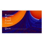 Blue N Orange - business Business Card Templates