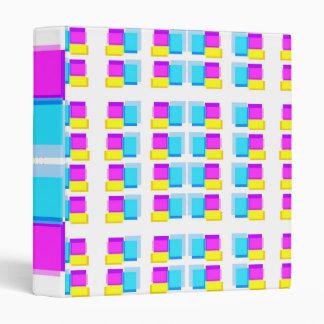 Blue n Pink Color Sticky Stacks Pattern Binder