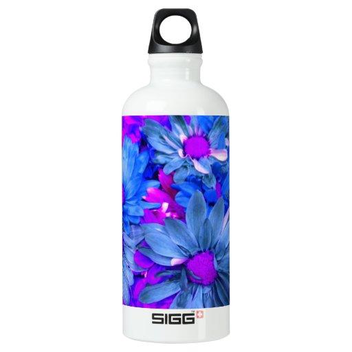 Blue N Purple Daisies Bouquet SIGG Traveler 0.6L Water Bottle
