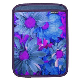 Blue N  Purple Daisies iPad Sleeve