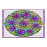 Blue n Purple Dancing Wave Collection Decoration Posters