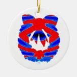 BLUE n RED: Diamond Pattern Wreath Christmas Tree Ornaments