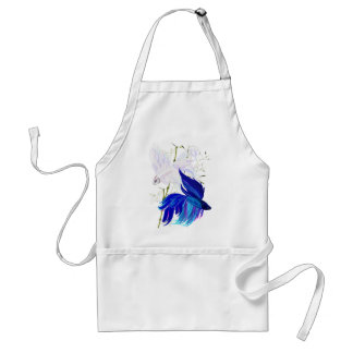 Blue 'n' White Siamese Fighting Fish Aprons