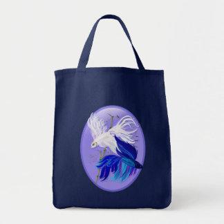 Blue 'n' White Siamese Fighting Fish Bags