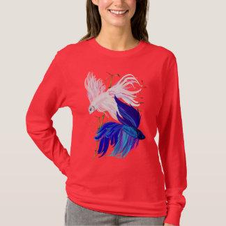 Blue 'n' White Siamese Fighting Fish Shirt