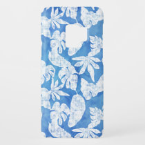 Blue n White Tropical Leaf Modern Watercolor Case-Mate Samsung Galaxy S9 Case