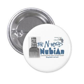 Blue N-word Nubian button