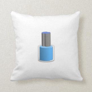 Blue Nail Polish Pillows