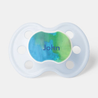 Blue Name Engraved Pacifier