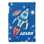 Blue named space rocket ipad mini iPad mini covers