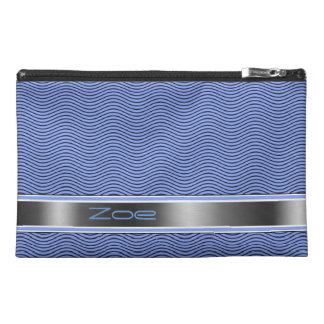 Blue Named Waves Travel Accessory Bag