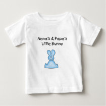 Blue Nana's and Papa's Little Bunny Baby T-Shirt