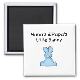 Blue Nana's and Papa's Little Bunny Magnets