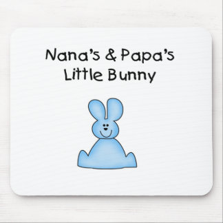 Blue Nana's and Papa's Little Bunny Mouse Pad