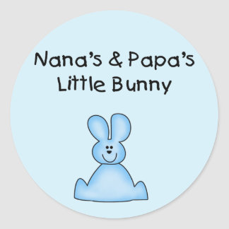Blue Nana's and Papa's Little Bunny Stickers