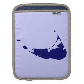 Blue Nantucket Island Map Sleeve For iPads