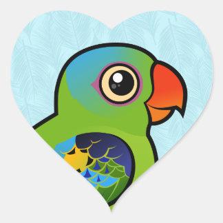 Blue-naped Parrot Heart Sticker
