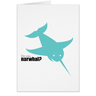 Blue Narwal | Stoopid Goat Card