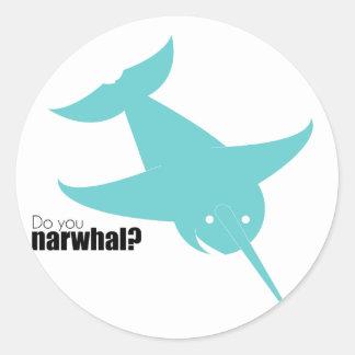 Blue Narwal | Stoopid Goat Classic Round Sticker