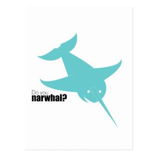 Blue Narwal | Stoopid Goat Postcard