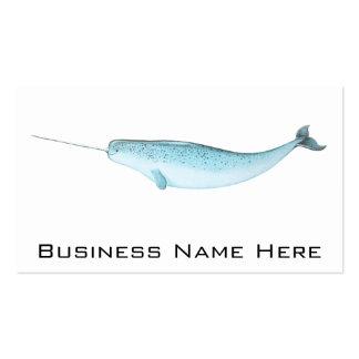 Blue Narwhal Illustration Business Cards