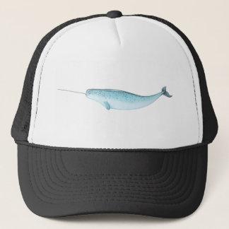 Blue Narwhal Illustration Trucker Hat