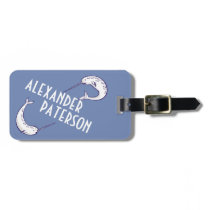 Blue Narwhals Personalized Luggage Tag